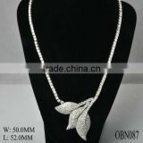 Fashion sterling silver necklace, luxury jewelry wedding gold necklace designs from China
