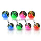 new arrival cheap piercing free sample tongue rings body piercing jewelry