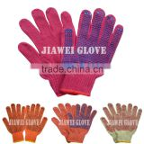 China Manufacturer Labor Work Cotton Glove with PVC Dots Safety Work PVC Coated Cotton Glove/Guantes De Algodon