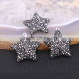 Star Shape Pave Crystal Rhinestone Gem stone Druzy Pendant, Simple Design Pendant Jewelry For Women