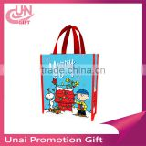 Peanuts Merry and Bright Christmas Small Recycled Shopper Tote Bag