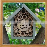 china factory FSC&BSCI handmade Wildlife garden Wooden bee honeybee Insect gift House with Ladybird