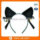 Hen Party Black -Color Cat Ears with small bell