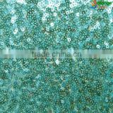 woman clothing fashion new fancy fabric green velvet sequin fabric for formal evening gown dress