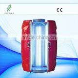 zhengjia medical 50pcs Germany UV lamps solarium machine,vertical solarium tanning machine with 9500w