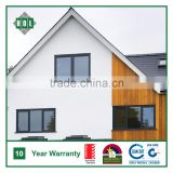Top hung window for residential house, powder coated aluminum frame with blue color glass