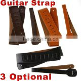 Coffee/Black/Orange PU Leather Buckle Electric Guitar Acoustic Strap