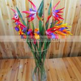 artificial pu real touch paradise bird flower