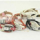 wholesale Super popular Surround romantic - vogue leather braided cord hand chain watch ultra-long strap