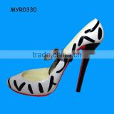 Custom Wild animal Striped Stiletto High Shoe Wine Bottle Holder