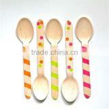 Bulk Disposable Best Seller Custom Disposable Color Cutlery Spoon
