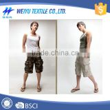 Cotton Men cargo shorts / plain dyed Teen Boy hot Shorts