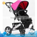 Latest design 2-in-1 removable safety rail high landscape seat reversible classic pushchair wholesale baby strollers pram