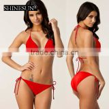 Multicolor nylon xxx photos bikini blank swimwear with chest pad
