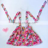 Suspender Girls Floral Skirts Baby Cotton Dress Fashion Dresses Girls Clothing