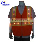 LED light reflective safety straps vest