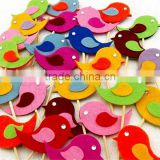 10 Handmade Felt Bird Cupcake Topper Cake Decorations Birthday Baby Shower