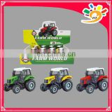 Die-cast Metal Car ,Alloy Farmer Car With Tractor Toys Car, Pull Back Farmer Car With Tractor Toys For Kids