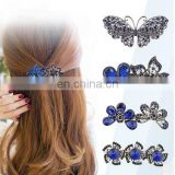30 Designs Amethyst Butterfly Hair Pin Hairclips Horsetail Top Clip Pinch Cock Hair Clips Barrette Hair Accessories