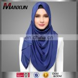 New Arrival Muslim Accessories Hotsale Islamic Plain Scarf Good Quality Middle East Region Turkish Hijab