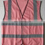 hi-vis pink safety vest/womens pink safety vests with zipper/pink reflective safety vest