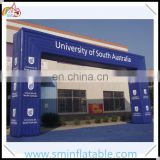 Commercial inflatable arch, outdoor pvc inflatable blue cube archway , inflatable square entrance arch for promotion