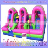 Colorful inflatable obstacle course for Kids