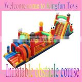 Soccer balloon Inflatable obstacle course for kids