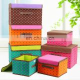 Hot sale Hear Parted Printed Foldable Non-woven Sundreis Organizer Storage Box