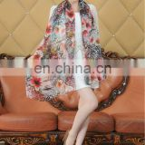 Fashion Digital Printed Chiffon Scarves For Ladies