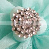 2013 new fashion rhinestone round button invitation card button garment accessory