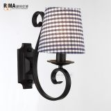 RM1426 Home Fabric Lamp shade Matt Black Modern fancy Wall Lamp