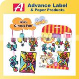 DIY Kids toy Art & Craft Circus Animals Stained glass Sticker game
