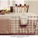 Polyester Factory Price Jacquard Checker Table Cloth                                                                         Quality Choice