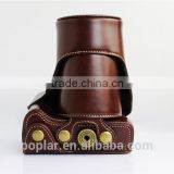 New Leather Camera Case Protector Cover Bag for Olympus OM-D E-M1 EM1 Camera PU Coffee color