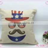 European and American fashion hat glasses beard pillowcase factory direct sale