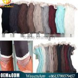 European Style Loose Short Lady Woolen Socks Cute Girl Lace Leg Warmers Shoe Sheath Knitted socks