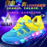 2016 New kids led flash shoes Ladies Girls Boys Led Flashing Shoes with 7 led color and battery rechargeable