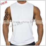 wholesale custom men gym tank top sleeveless plain blank white sports workout t-shirt                                                                         Quality Choice