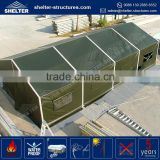 OEM aluminum alloy 850g/sqm PVC coated fabric roof cover canvas easy up dirt resistent army wall tents