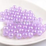Light Purple Color New 2016 6MM to 20MM Stock Round Acrylic Jelly AB Beads for Chunky Necklace Wholesales Jewelry Paypal accept