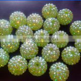 Cheapest Jewelry Chunky Resin Rhinstone Ball beads wholesale for girls Necklace Jewelry