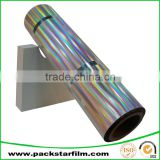 Accept custom order punctiform pattern metallized pet twist film for antifake use