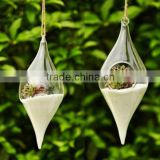 Fashion Hanging Water Drop Shaped Glass Vase For Home&Wedding Decoration, Garden Ornament