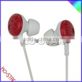 Plastic Case In-ear Style Earphone with Silicon Ear Tips for Smartphone, MP3, Portable Media Players