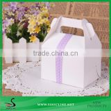 Sinicline Standard Size Cake Box With Ribbon Tape Accept OEM Print Logo