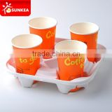 Cardboard cup holders, corrugated cup paper carrier, coffee carry tray