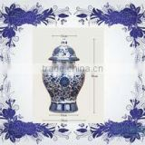 Jingdezhen Blue and white Blue And White Ceramic Jars Pots made in china                                                                         Quality Choice