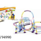 Kids B/O roller coaster toy Plastic roller coaster toy Battery-operated Roller coaster diy toys