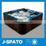Best selling products in europe luxury LED lighting 4 person sexy acrylic outdoor spa